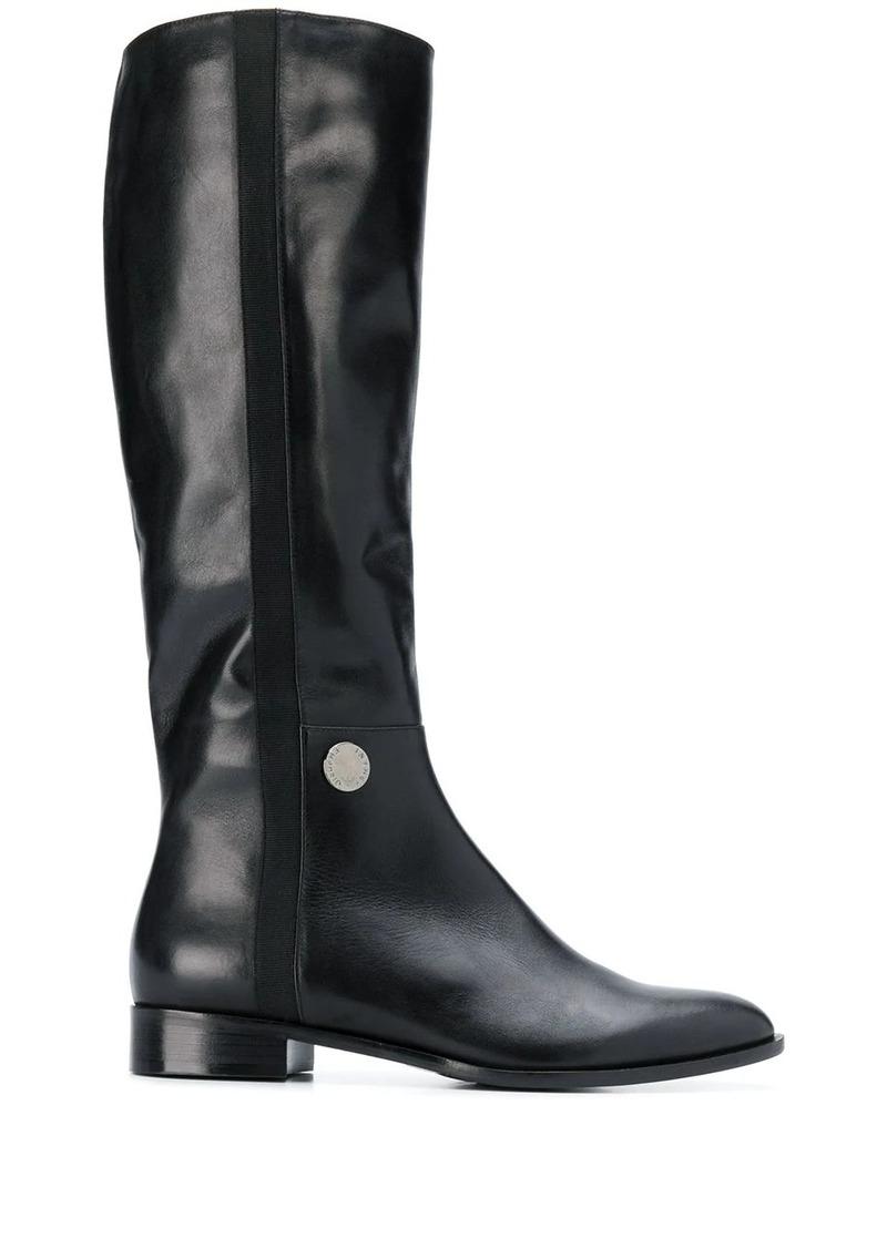 Armani equestrian-style boots