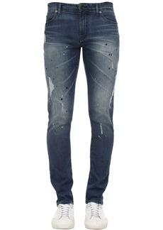 Armani Exchange 12oz Medium Blue Wash Jeans