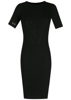 Armani Exchange slim-cut knit dress