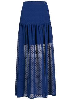 Armani Exchange long crepe A-line skirt