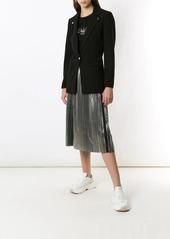 Armani Exchange metallic pleated skirt