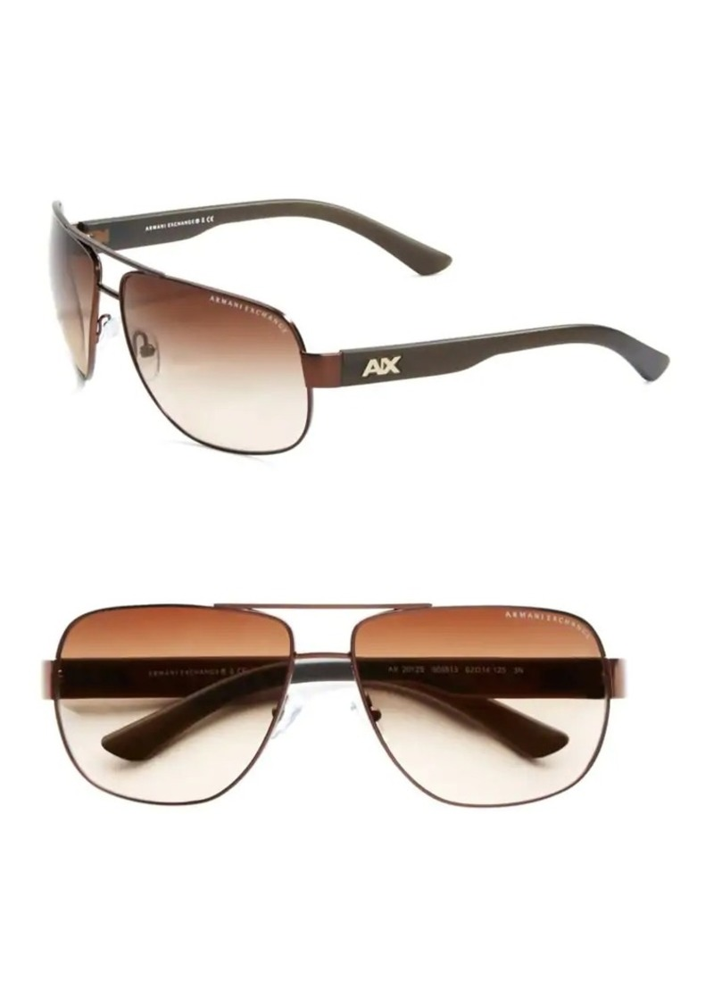 1613e353b4 Armani Exchange Armani Exchange 63.5mm Modern Aviator Sunglasses ...