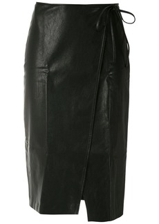 Armani Exchange wraparound A-line skirt
