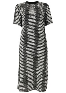 Armani Exchange logo print t-shirt dress