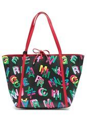 Armani Exchange logo print shopper tote