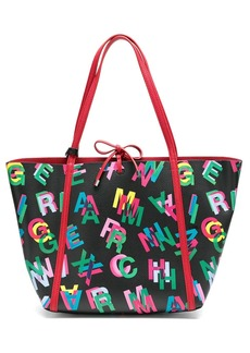 Armani Exchange logo print shopper tote