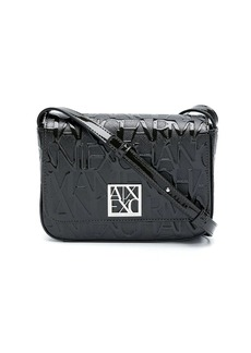 Armani Exchange embossed logo shoulder bag