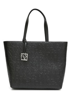 Armani Exchange embossed-logo pattern tote bag