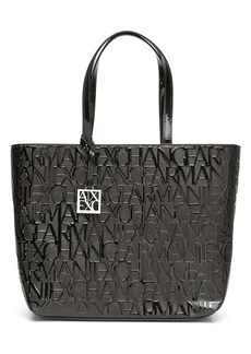 Armani Exchange monogram logo-print tote bag