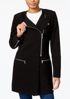 Armani Exchange Asymmetrical-Zip Jacket