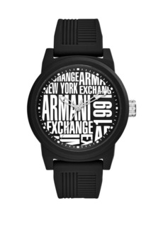 Armani Exchange ATLC Aix Black Silicone Strap Watch