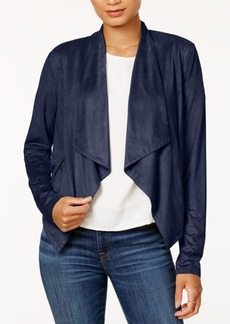 Armani Exchange Draped Faux-Suede Jacket