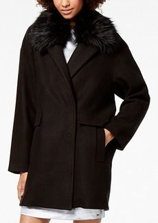 Armani Exchange Faux-Fur-Collar Coat