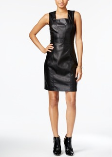 Armani Exchange Faux-Leather Dress