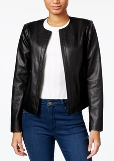Armani Exchange Faux-Leather Moto Jacket