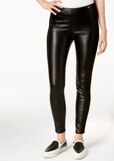Armani Exchange Faux-Leather Skinny Pants