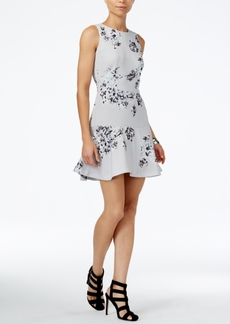Armani Exchange Floral-Print Fit & Flare Dress