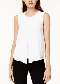 Armani Exchange Layered Split-Front Top