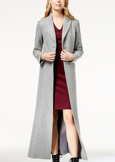 Armani Exchange Long Button-Down Coat