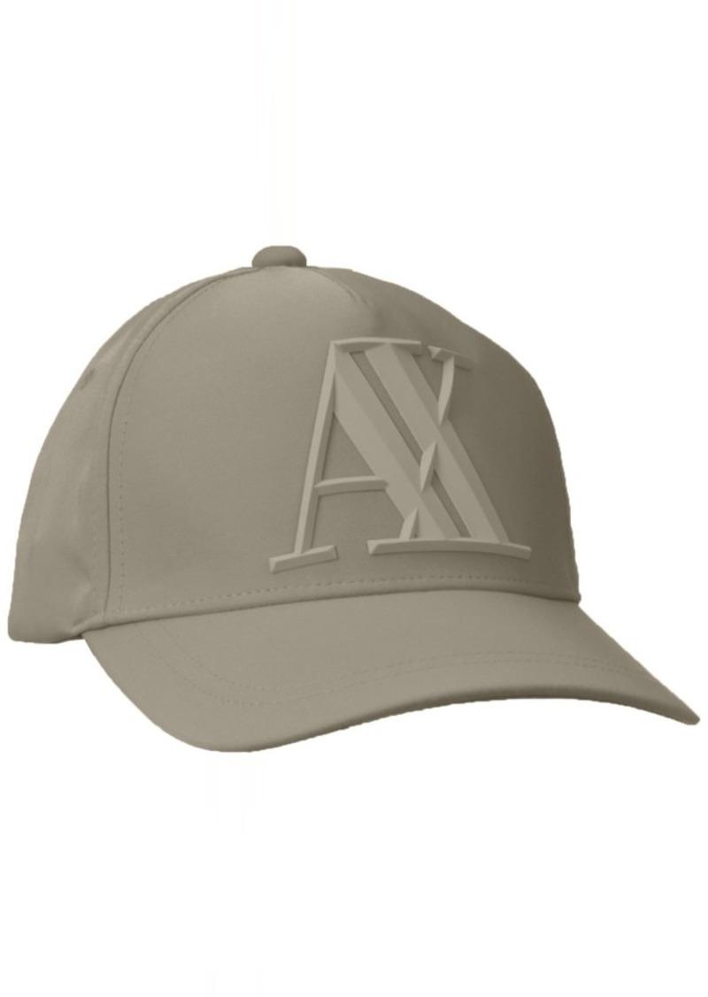 Armani Exchange Men's 3D Rubber AX Tonal Logo Hat