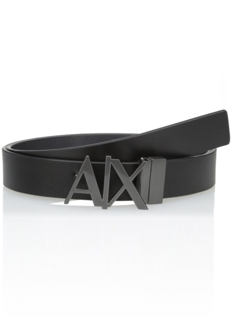 Armani Exchange Men's A X Hinge Plate Belt