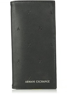 Armani Exchange Men's All Over Embossed Logo Yen Wallet nero
