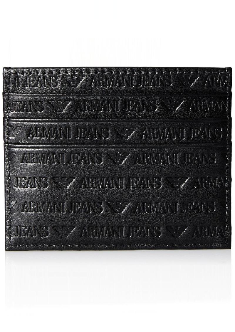 Armani Exchange Men's All Over Logo Credit Card Holder