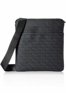 Armani Exchange Men's All Over Logo Print Satchel nero/black