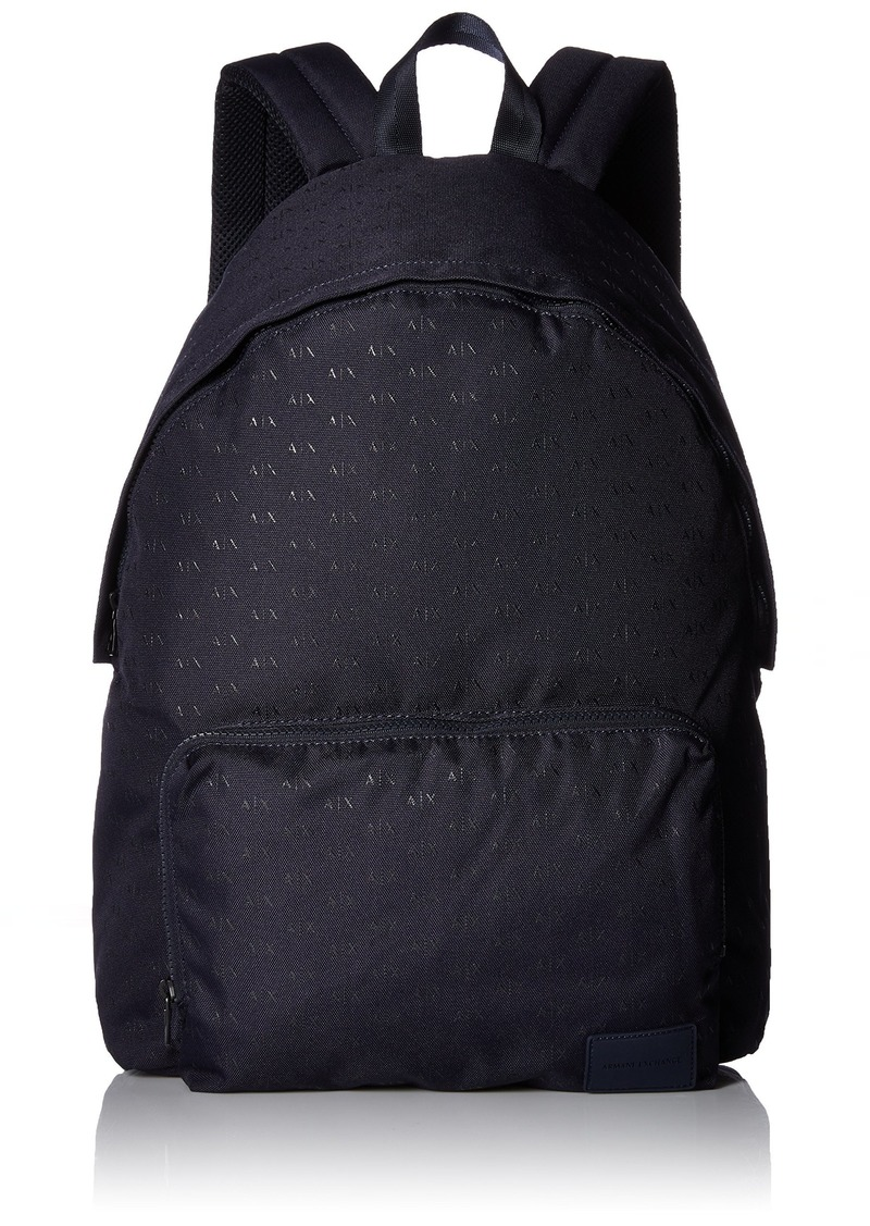 12d0ccf01b62 Armani Exchange Armani Exchange Men s Allover Logo Backpack Navy Now ...