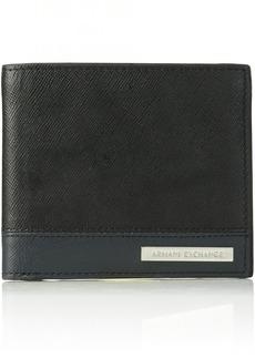 Armani Exchange Men's Bicolor Saffiano Wallet