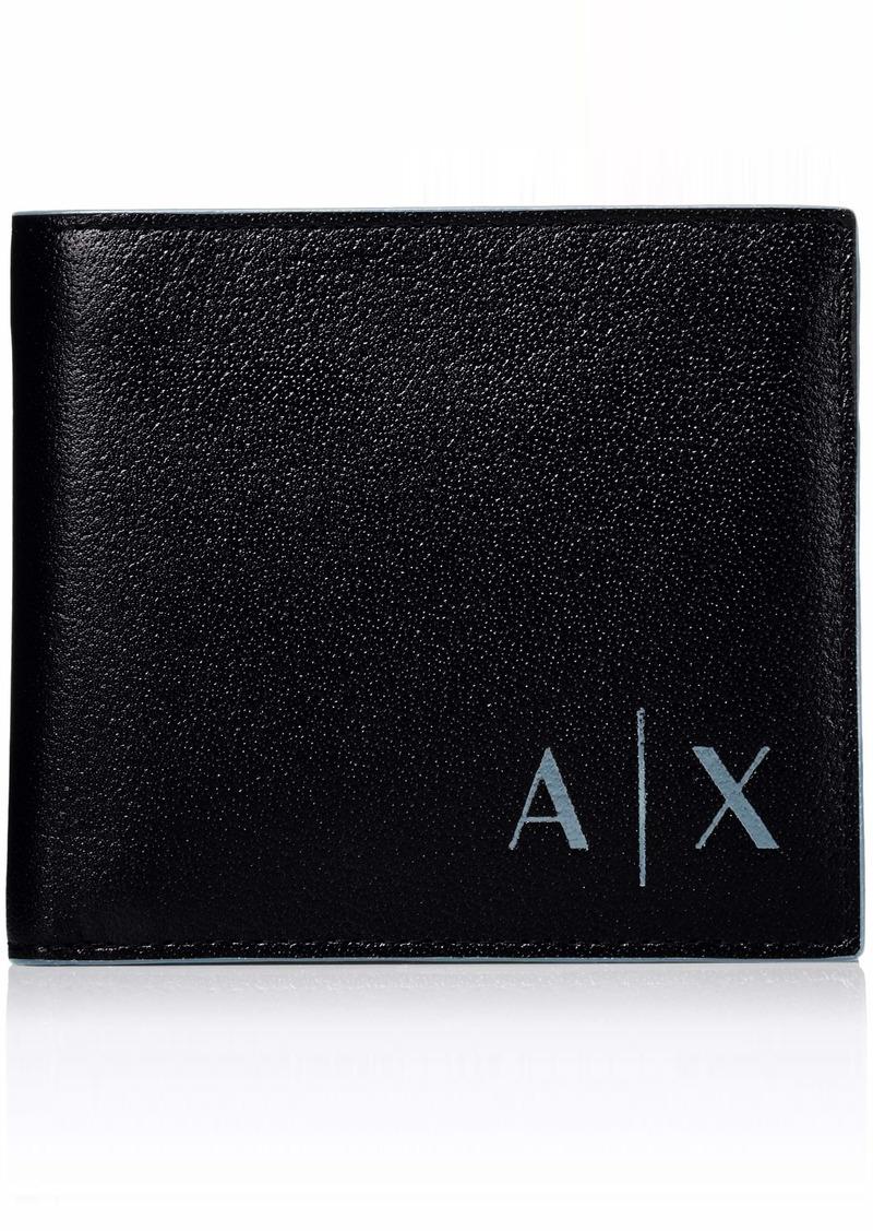 Armani Exchange Men's Bifold Coin Case Wallet