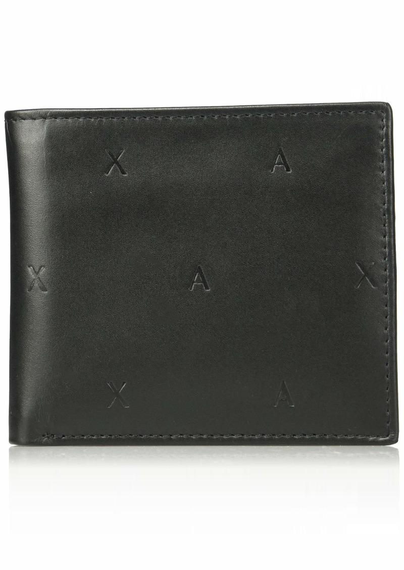 Armani Exchange Men's Bifold Coin Case Wallet nero/black