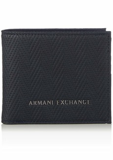 Armani Exchange Men's Bifold Credit Card Wallet blue chevron