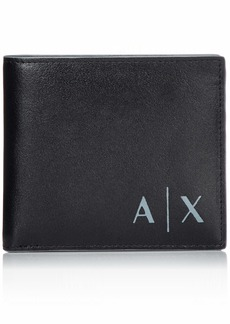 Armani Exchange Men's Bifold Credit Card Wallet nero/black