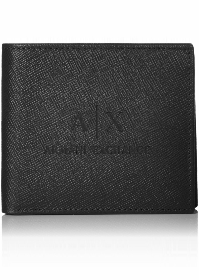 Armani Exchange Men's Bifold Credit Card Wallet nero/black