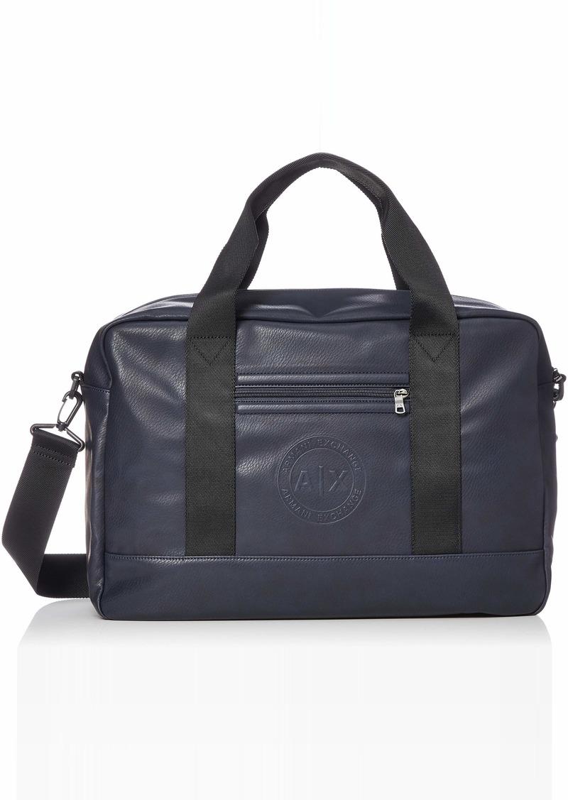 Armani Exchange Men's Circular Embossed Logo Duffle Bag navy ONE SIZE