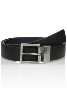 Armani Exchange Men's Skinny Leather Belt Accessory black/navy/black/navy