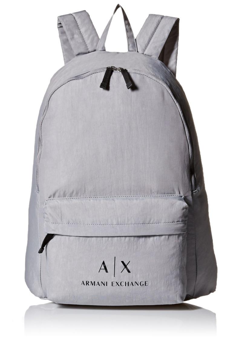 Armani Exchange Men's Crinkle Nylon Backpack Alloy