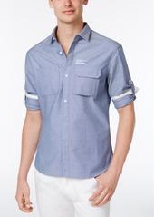 Armani Exchange Men's Double Pocket Chambray Shirt