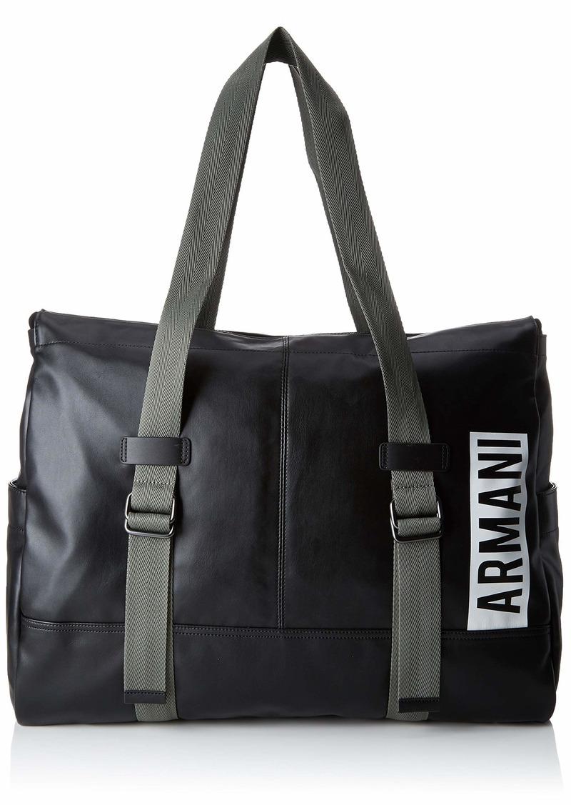 Armani Exchange Men's Duffle Bag with Adjustable Handles nero/black
