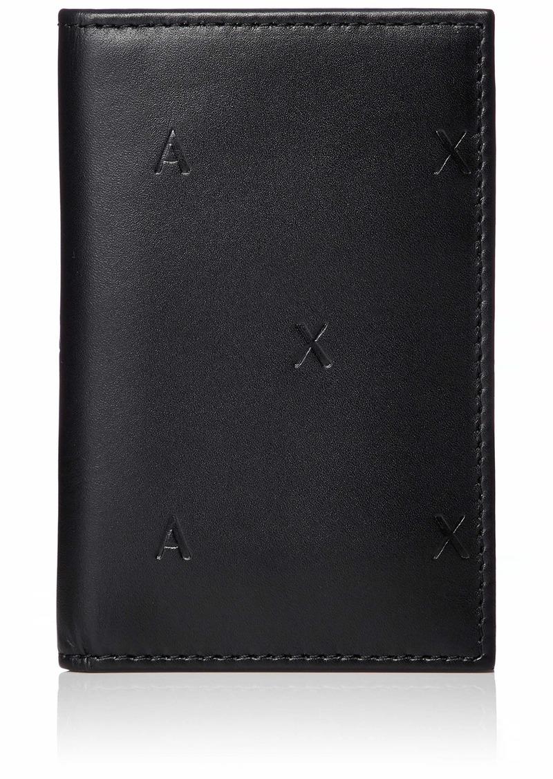 Armani Exchange Men's Embossed Card Holder