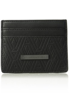 Armani Exchange Men's Embossed Card Holder black print ax