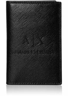Armani Exchange Men's Embossed Card Holder nero/black