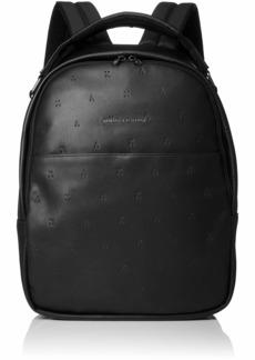 Armani Exchange Men's Embossed Logo Backpack nero/black