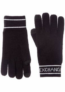 Armani Exchange Men's Glove navy ONE SIZE