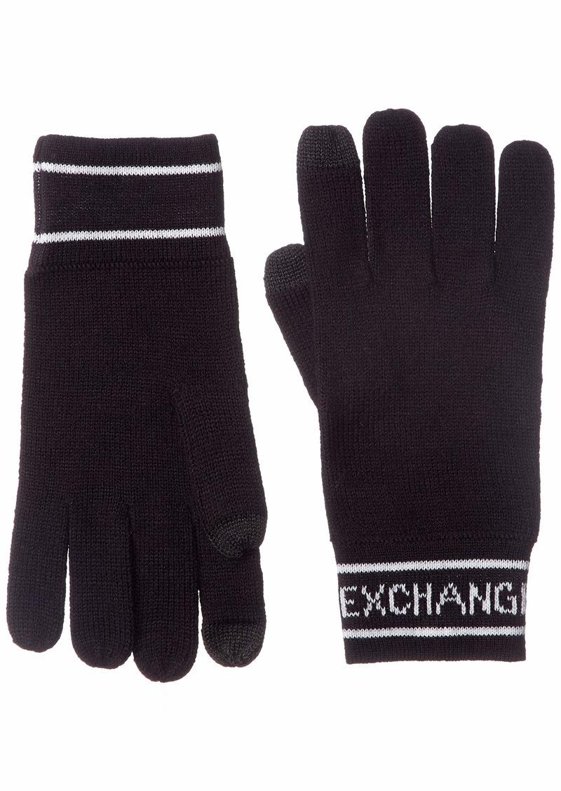 Armani Exchange Men's Glove navy ONE SIZE