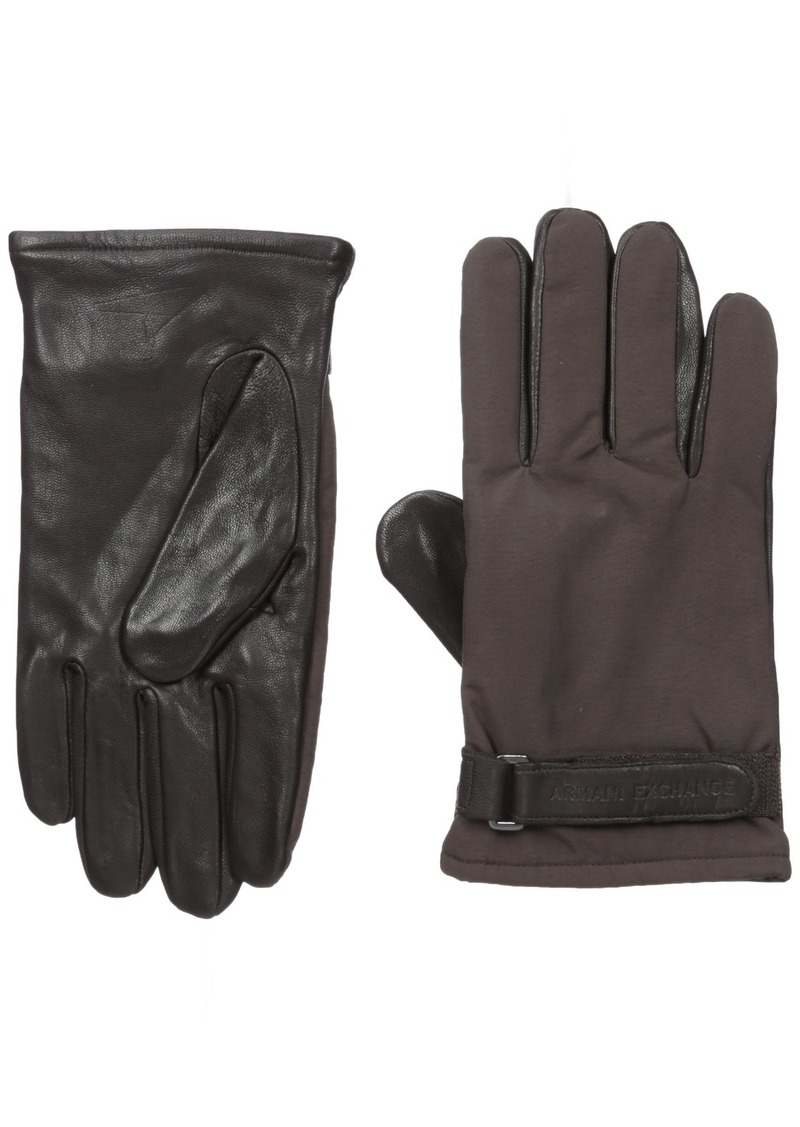 Armani Exchange Men's Goat Leather Gloves brown