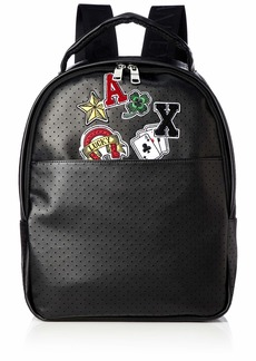Armani Exchange Men's Graphic Backpack nero/black
