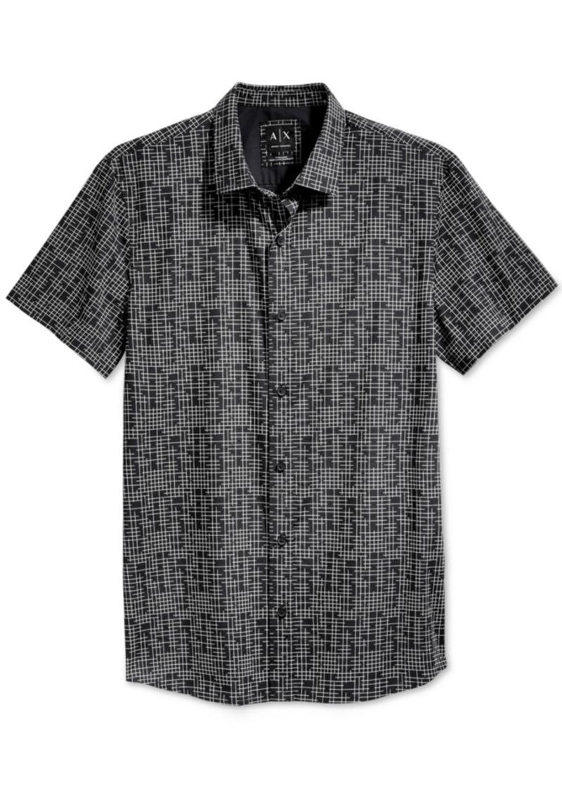 Armani Exchange Men's Grid Print Shirt