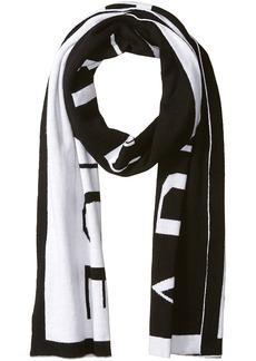 Armani Exchange Men's Knit Oversized Logo Scarf